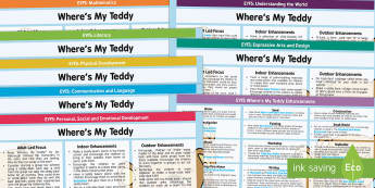 EYFS Lesson Plan and Enhancement Ideas to Support Teaching on Where's My Teddy? - planning, wheres my teddy, EYFS