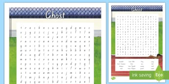Year 5 and 6 Chapter Chat Word Search To Support Teaching On Ghost by Jason Reynolds - chapter chat, year 5, year 6, ghost, jason reynolds, word search