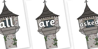 Tricky Words on Towers - Tricky words, DfES Letters and Sounds, Letters and sounds, display, words