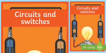 Circuits and Switches Year 6 Physical Sciences Editable Book Cover-Australia - Science, primary connections, physical science, grade 6, year 6, science journal, cover page, front