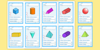 3D Shapes Card Game - 3d, top trumps, shapes, game, activity