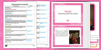 EYFS Discovery Sacks Festivals Diwali - diwali, eyfs, sack, pack