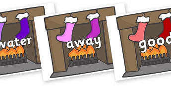Next 200 Common Words on Fireplace & Stockings - Next 200 Common Words on  - DfES Letters and Sounds, Letters and Sounds, Letters and sounds words, Common words, 200 common words