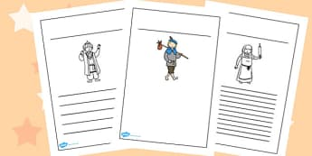 Dick Whittington Writing Frames - writing aid, writing template