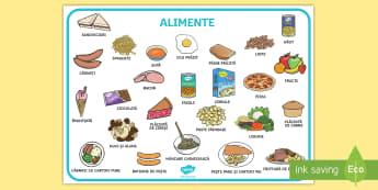 Alimente Planșă cu vocabular - viață sănătoasă, alimentație sănătoasă, fructe și legume, alimente, roadele pământului,R