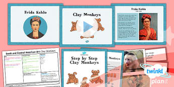 Art: South and Central American Art: Clay Monkeys UKS2 Lesson Pack 1