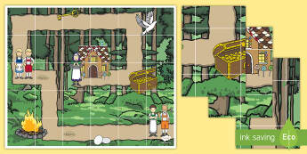Hansel and Gretel Bee-Bot Mat - EYFS Hansel and Gretel, fairy tales, traditional tales, Brothers Grimm,, bee-bot, ict, it, technolog