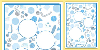 Maths Themed Observation Speech Bubbles - eyfs, recording, evidence