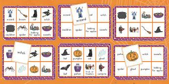 Halloween Lotto Game - ESL Halloween Vocabulary Game