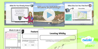 PlanIt Geography Y4 - What's It Like in Whitby? Lesson 1 Where Is Whitby? Lesson Pack - geography, UK, compare, Whitby, contrasting, location, physical, human, coast, seaside, Yorkshire, county, map