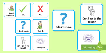 Useful Phrases Communication Cards - selective mutism, elective mutism, reluctant talker, autism, EAL, communication cards
