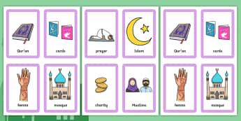 Eid Pairs Matching Game - ESL Eid Vocabulary Game