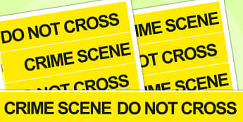 Crime Scene Role Play Tape - police roleplay, detective, roleplay