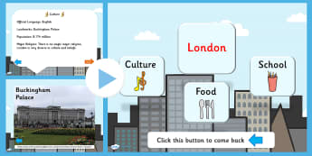 London Information PowerPoint - london, london powerpoint, london facts, london information, england, great britain, british captial, capital cities, ks2