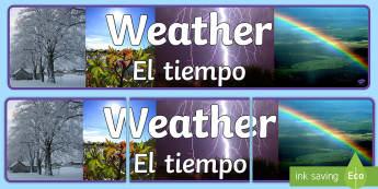 Weather Photo Display Banner English/Spanish -  weather, photo display banner, photo banner, display banner, banner,  banner for display, display p