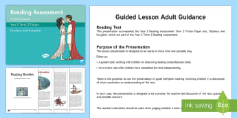 Year 5 Term 3 Fiction Reading Assessment Guided Lesson Teaching Pack - Year 3, Year 4 & Year 5 Reading Assessment Guided Lesson PowerPoints, KS2, reading, read, assessment