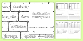 Statutory Spelling List Y5 and Y6 Activity Book - spellings, ks2, primary, upper key stage 2, revision, challenges
