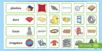 I materiali Parole Illustrate - fisica, tecnica, educazione, materiale, scolastico, italiano, italian, materiale