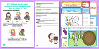 All About Me/Ourselves - My Senses Bumper Busy Bag Resource Pack  For Parents