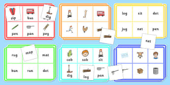 Mixed CVC Word Bingo and Lotto Activity Pack - mixed, cvc, bingo, activity