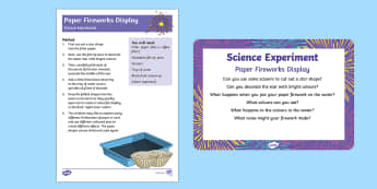 EYFS Paper Fireworks Display Science Experiment and Prompt Card Pack