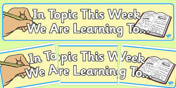 In Topics We Are Learning To Display Banner - display, banner