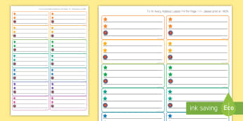 Literacy Themed Self-Assessment Stickers - self-assessment, two stars and a wish, goals, targets,Scottish