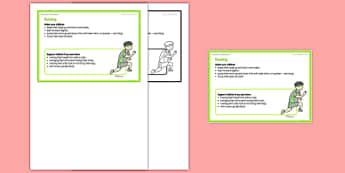 Foundation PE (Reception) - Running Teacher Support Card - EYFS, PE, Physical Development