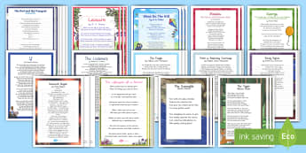 Handwriting Poems Bumper Assembly Pack - poem, handwriting, practise, letter, formation, plant, flower, seed, life cycle, germination, water,