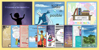 Motivational Posters Pack - Spanish