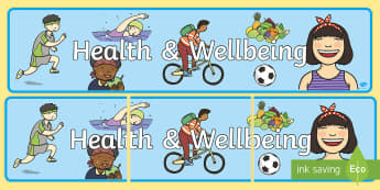 Health & Wellbeing Display Banner - Display banners, curriculum for excellence, Curricular area banners