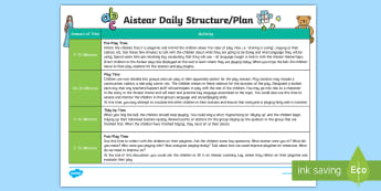 Aistear Playtime Daily Planning Template - ROI, Aistear, playtime, daily plan, teacher organisation, planning overview, Irish