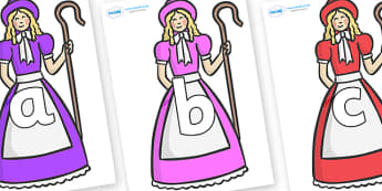 Phoneme Set on Little Bo Peep - Phoneme set, phonemes, phoneme, Letters and Sounds, DfES, display, Phase 1, Phase 2, Phase 3, Phase 5, Foundation, Literacy