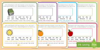 Keywords Placemats Editable - foundation stage keywords, key stage 1 key words, high frequency words, placemat, desk mat
