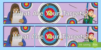 What Are Your Targets? Banner - Key Stage 4 Entry Level, target, SEN, motivation, assessment,