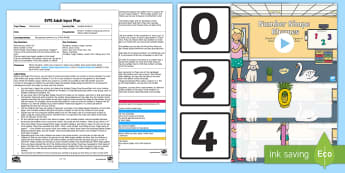 EYFS Invisible Numbers Adult Input Plan and Resource Pack - Mathematics, Numerals, Number Recognition, Early Years planning, Foundation, Adult Led, EYFS