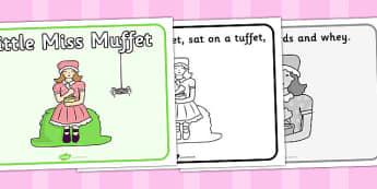 Little Miss Muffet Sequencing - Little Miss Muffet, nursery rhyme, rhyme, rhyming, nursery rhyme story, nursery rhymes, Little Miss Muffet resources