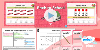 PlanIt Y1 Number and Place Value Identify and Represent Numbers 0-20 (3) Lesson Pack - Objects, Pictures, Pictorial Representations,  Different Representations, Number Line, Mastery, Flue