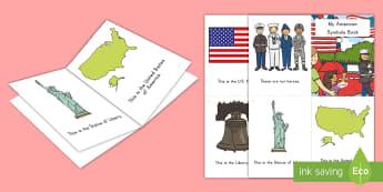 Patriot Day Emergent Reader - patriot day, september 11th, 9/11, patriotic symbols, uSA, United States of America, 9/11 emergent r