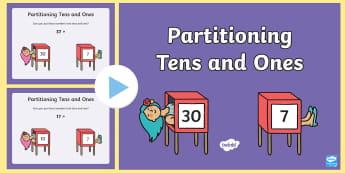 Maths Magician Partitioning Tens Units PowerPoint - Maths Magician Partitioning Worksheet Tens Units - numeracy, paritioning, numracy, Partisioning, pat