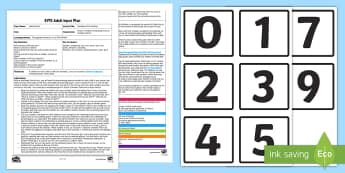 EYFS Numbered Car Parking Adult Input Plan and Resource Pack - Maths, Number Recognition, Numerals, Transport, Vehicles, Outdoors,  Early Years Planning, Adult Led