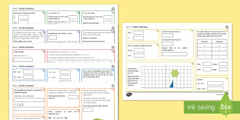 Half Term 2 Middle Ability Maths Activity Mats - order, bidmas, proportion, converting, conversion, pie charts, ven diagrams, fractions, construction