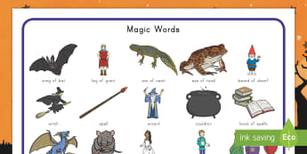 Halloween Magic Word Mat - word mat, writing, Halloween, magic, potions, spell, spells, cauldron