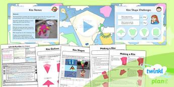 D&T: Let's Go Fly a Kite: Kite Shapes LKS2 Lesson Pack 3