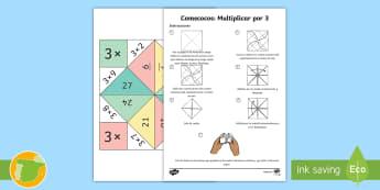 Comecocos: Multiplicar por 3 - juego, mates, matemáticas, por tres, x3,
