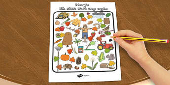 Afrikaans Autumn Themed I Spy My Little Eye Activity - afrikaans