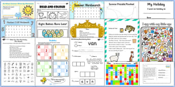 Junior/Senior Infants July Provision Activity Pack - summer holidays, holiday, summertime, Timw