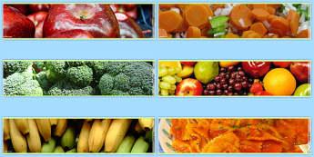 Healthy Eating Photo Display Borders - display, borders, photo