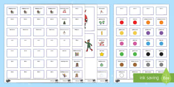 Winter Pictures With Matching Sentence Building Cards English/Italian - Winter Pictures with Matching Sentence Building Cards - sentence building, winter sentence build, se