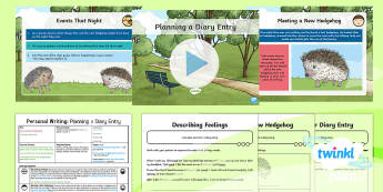 Animals: The Hodgeheg: Personal Writing 2 Y6 Lesson Pack To Support Teaching on 'The Hodgeheg' - Dick King-Smith, Animals, Hedgehogs, Autumn, Road Safety